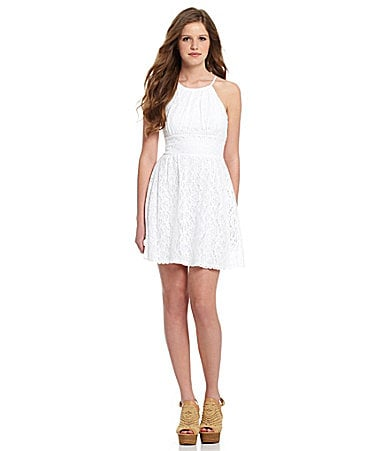 1dd1d632d05a B. Darlin Lace Halter Dress - New Product