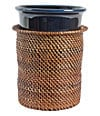 "7.75"" Wine Chiller with Rattan Holder"