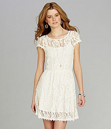 GB Boatneck Lace Dress