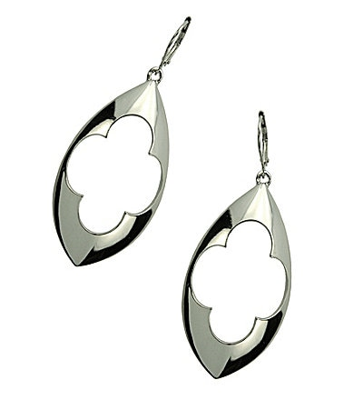 T Tahari Marrakesh Cut Out Design Drop Earrings