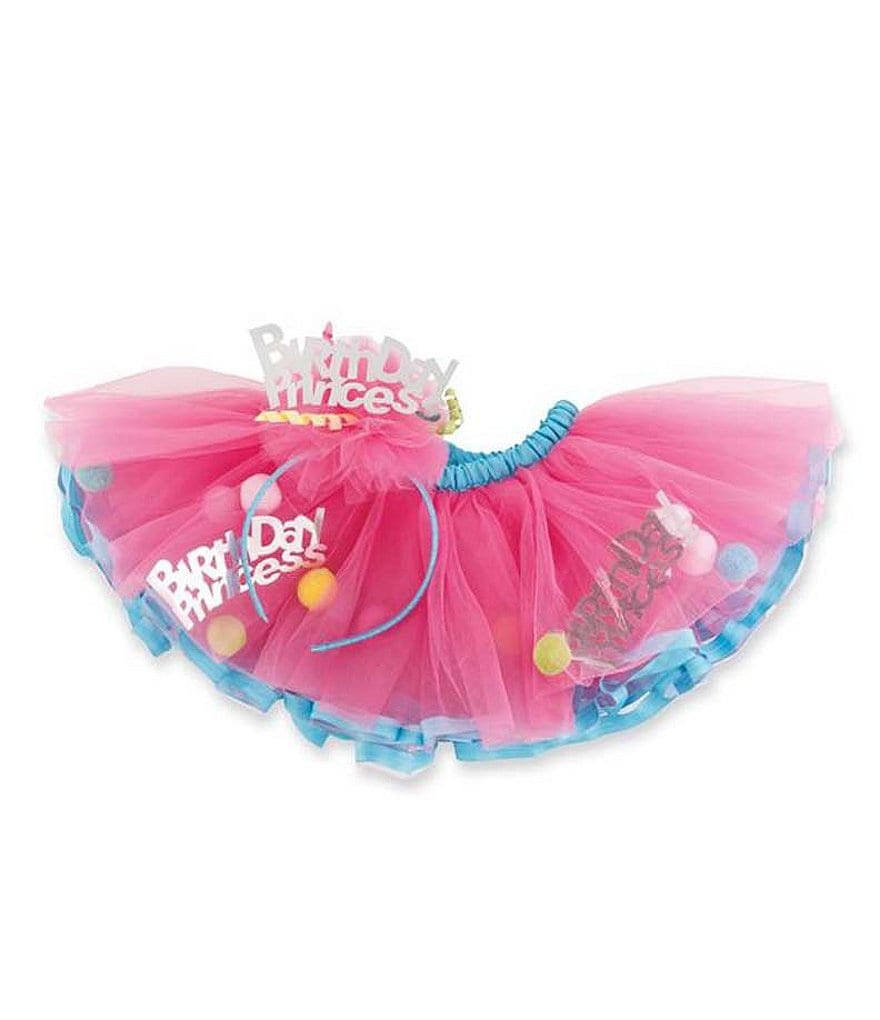 Mud Pie Baby Girls Birthday Princess Headband & Tutu Set