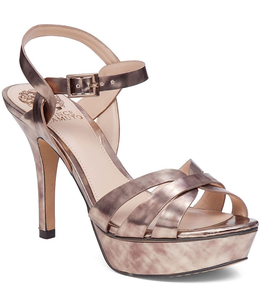 Vince Camuto Peppa Metallic Platform Dress Sandals
