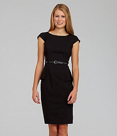 XOXO Belted Peplum Dress