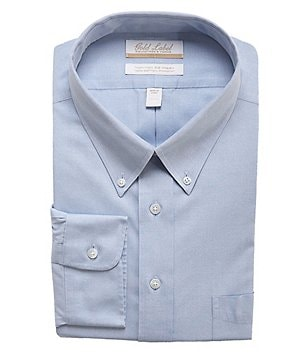 Gold Label Roundtree & Yorke Big & Tall Non-Iron Regular Full-Fit Button-Down Collar Dress Shirt