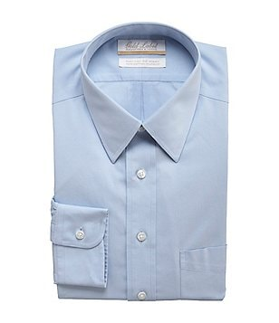 Gold Label Roundtree & Yorke Big & Tall Non-Iron Solid Regular Full-Fit Point-Collar Dress Shirt