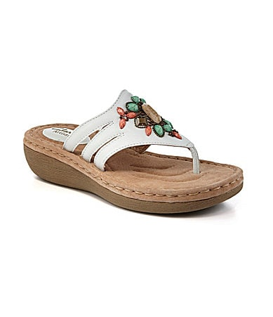 Clarks Amaya Yarrow Bejeweled Casual Sandals