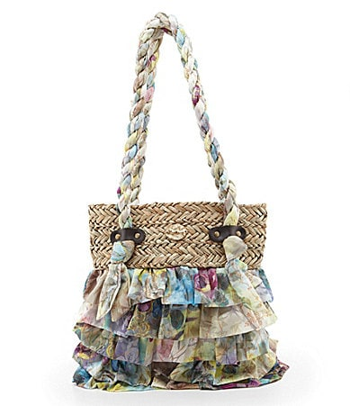shop all blue miami blue miami ruffle tote bag print wanelo tweet ...