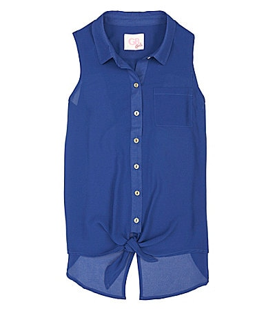 GB Girls 7-16 Woven Button-Up Blouse