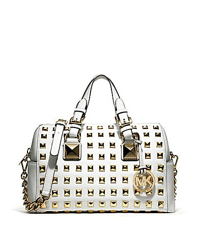 MICHAEL Michael Kors Grayson Studded Satchel Bag