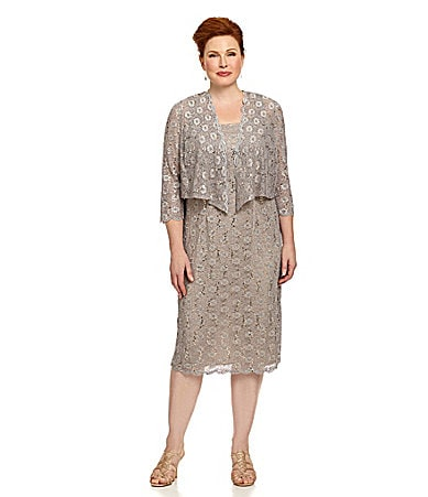 Sale alerts for  Alex Evenings Woman Lace Tea-Length Jacket Dress - Covvet