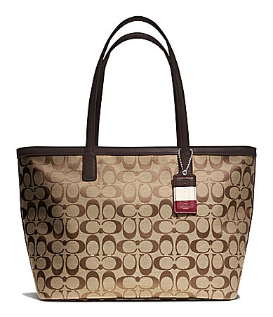 COACH LEGACY WEEKEND SIGNATURE C MEDIUM ZIP TOP TOTE