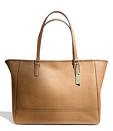 COACH SAFFIANO MEDIUM CITY TOTE IN LEATHER