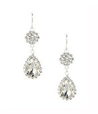 Cezanne Rhinestone Drop Earrings