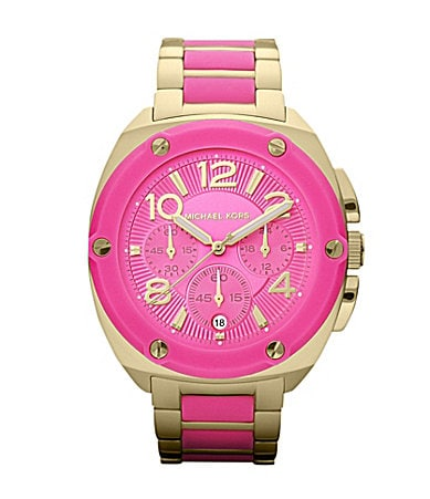 Michael Kors Tribeca Hot Pink Chronograph Watch