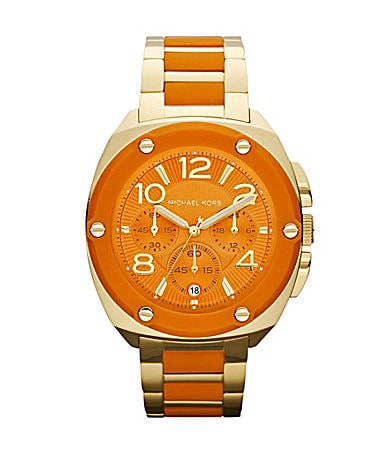 Michael Kors Tribeca Orange Chronograph Watch