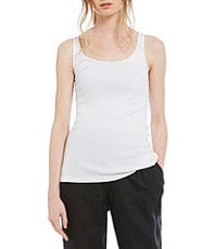Eileen Fisher Scoopneck Long Slim Tank