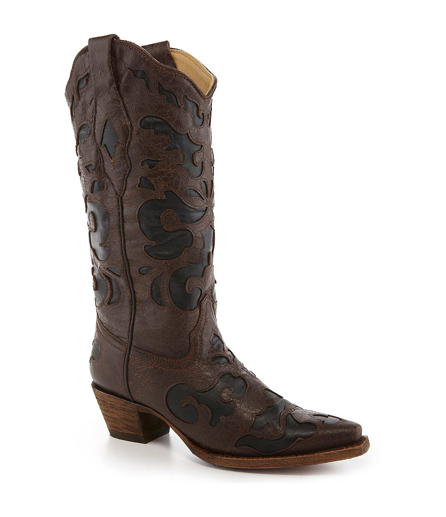 Corral Boots Goat Inlay Boots