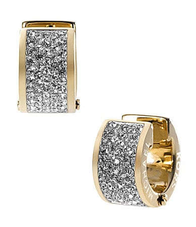Michael Kors Pave Huggie Hoop Earrings