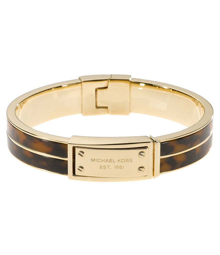 Michael Kors Logo Plaque Bangle Bracelet