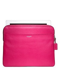 COACH LEATHER IPAD SLEEVE