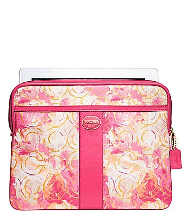 COACH FLORAL IPAD SLEEVE