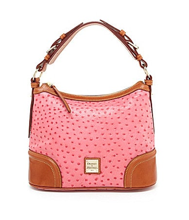 Dooney & Bourke Ostrich Embossed 75th Anniversary Hobo Bag