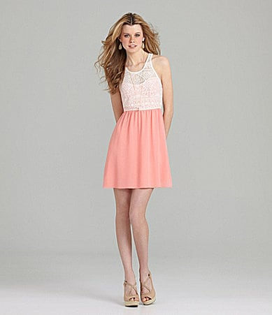 GB Lace 2-Fer Dress