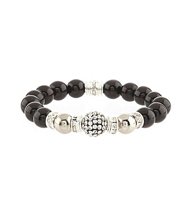Anna & Ava Pave Ball Stretch Bracelet