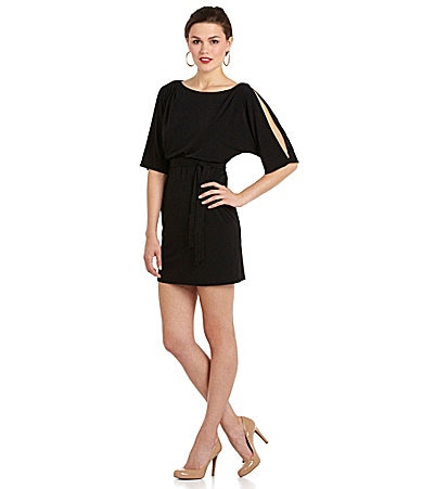 Jessica Simpson Cold-Shoulder Blouson Dress
