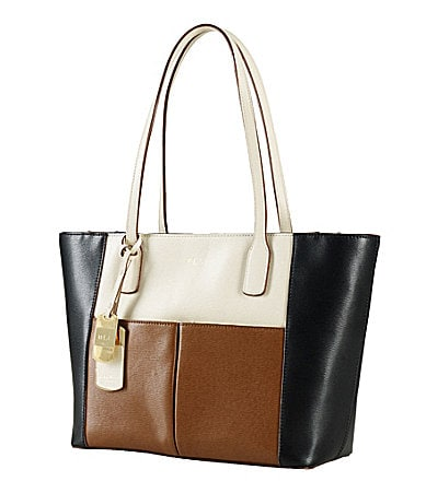 Lauren Ralph Lauren Newbury Colorblocked Shopper Tote