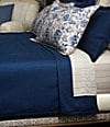 "90x90"" Blue Full/Queen Coverlet"