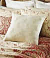 "18"" Cream Embroidered Square Pillow"