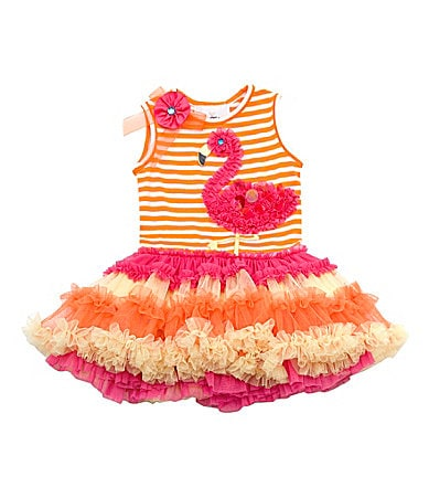 Flamingo Tutu Costume http://www.dillards.com/product/Rare-Editions-Newborn-Striped-Flamingo-Tutu-Dress_301_-1_301_503792772