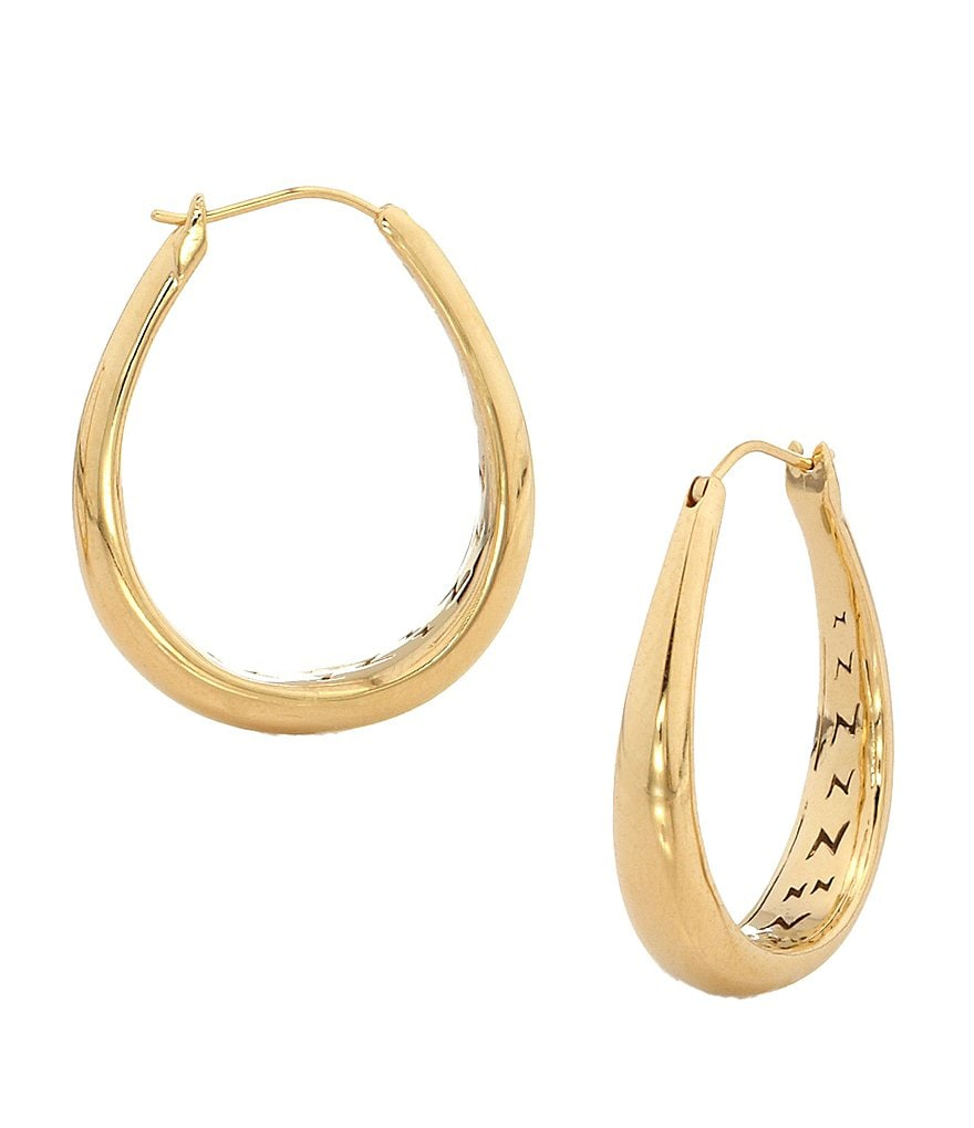 Nadri Small Tapered Hoop Earrings