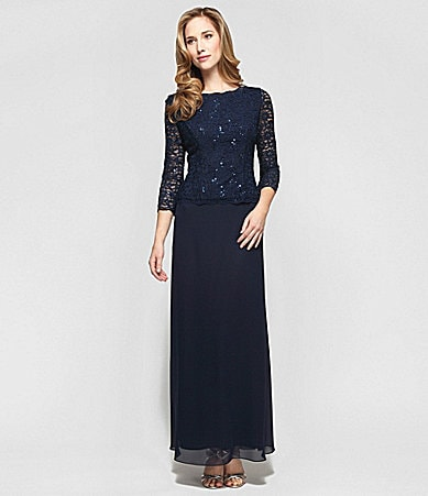 Alex Evenings Lace Mock 2-Piece Gown $ 160.00