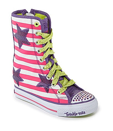 Skechers Girls� Twinkle Talls Gimme Goin� Wild Wedge Sneakers