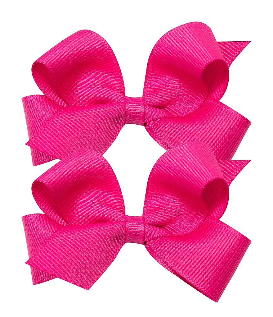Copper Key Mini Grosgrain Bows 2 -Pack