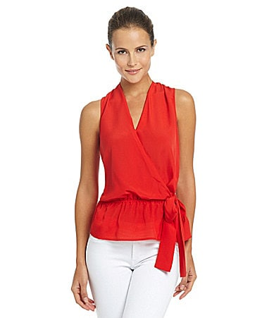MICHAEL Michael Kors Crossover Side-Tie Top