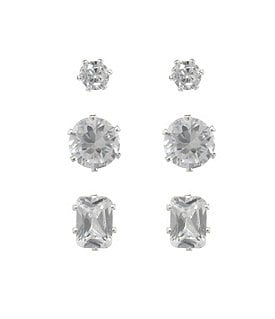 Dillard's Boxed Multi Trio Stud Earrings Image