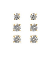 Dillard�s Boxed Collection Round-Cut CZ Trio Earring Set