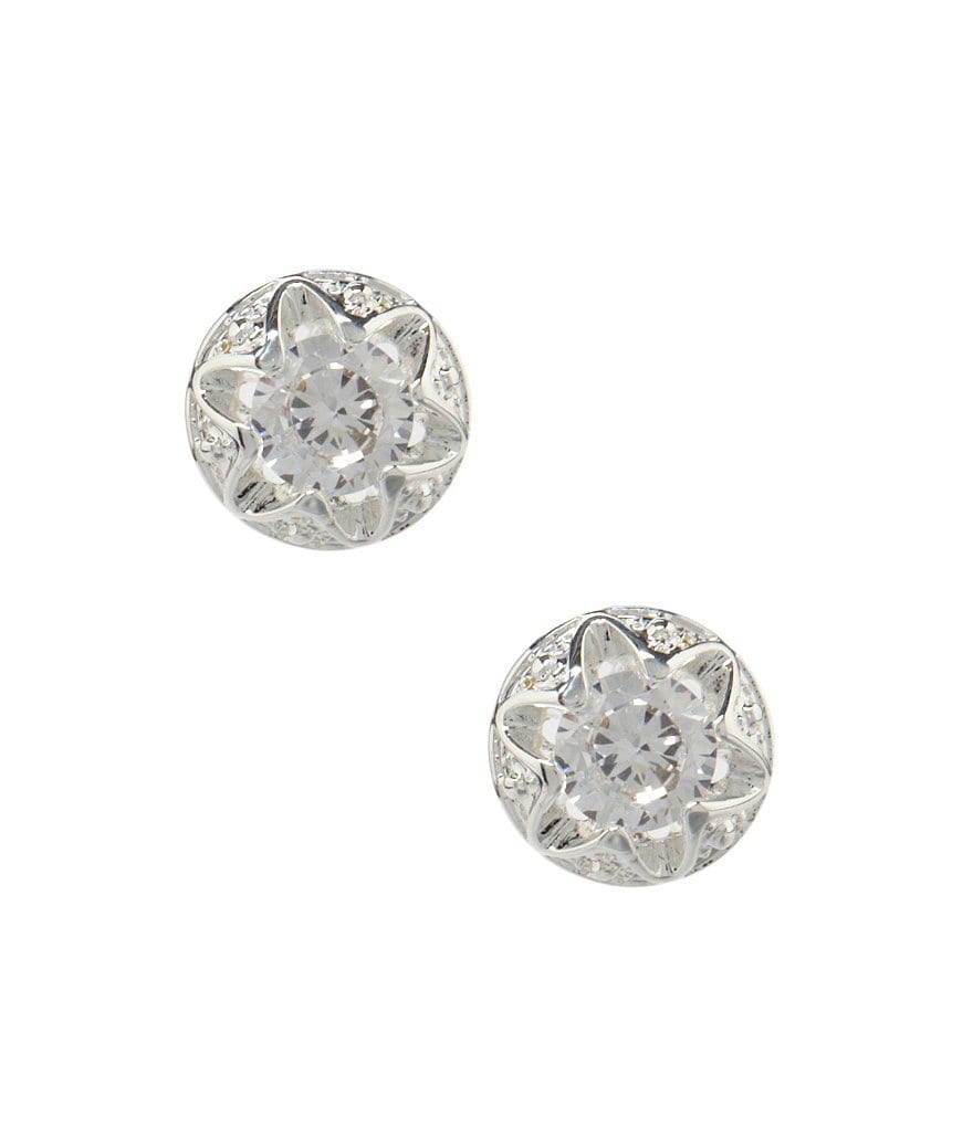 Dillard´s Boxed Collection Openwork Cubic Zirconia Stud Earrings