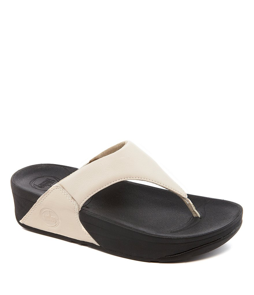 FitFlop Lulu Soft Leather Thong Style Slip On Sandals