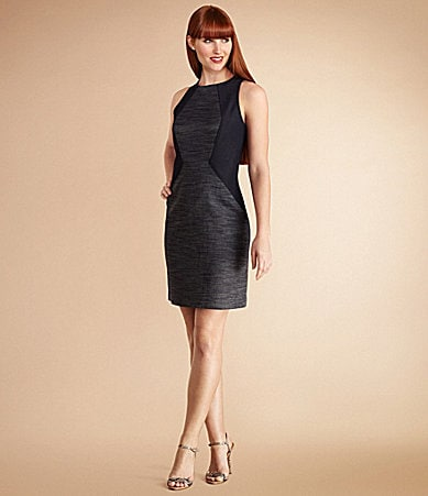 Donna Morgan Denim Colorblock Sheath Dress