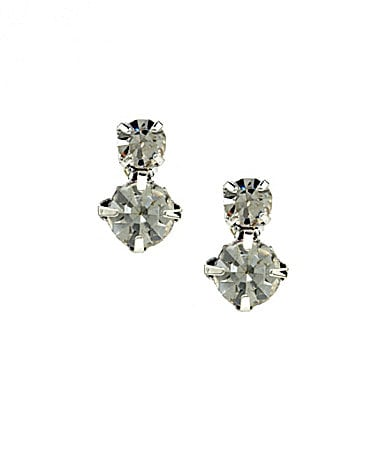 Cezanne Duo Round Stud Earrings