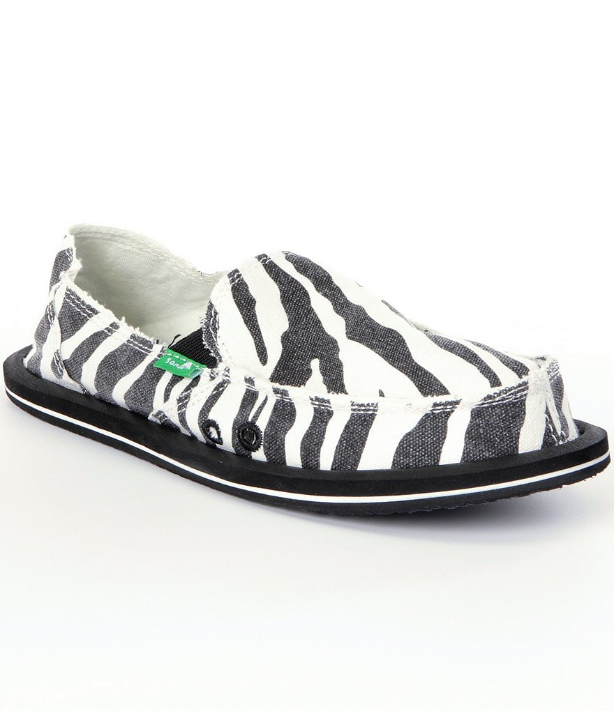 Sanuk I´m Game Zebra-Print Slip-On Shoes