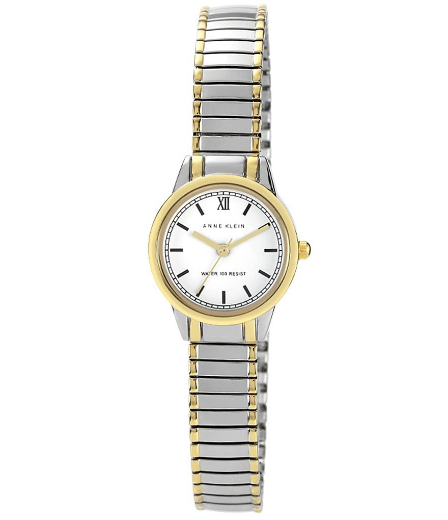Anne Klein Two-Tone Alloy Expansion Bracelet Watch