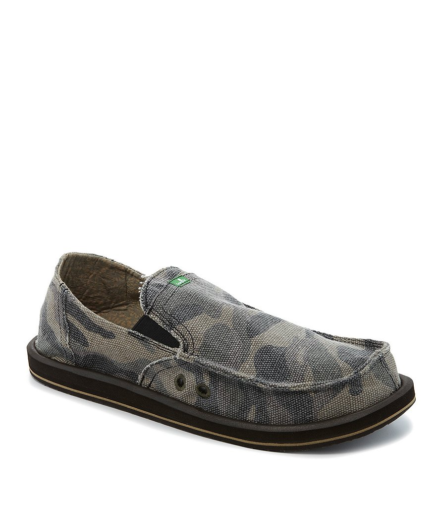 Sanuk Camo Pick Pocket Slip-On Shoes