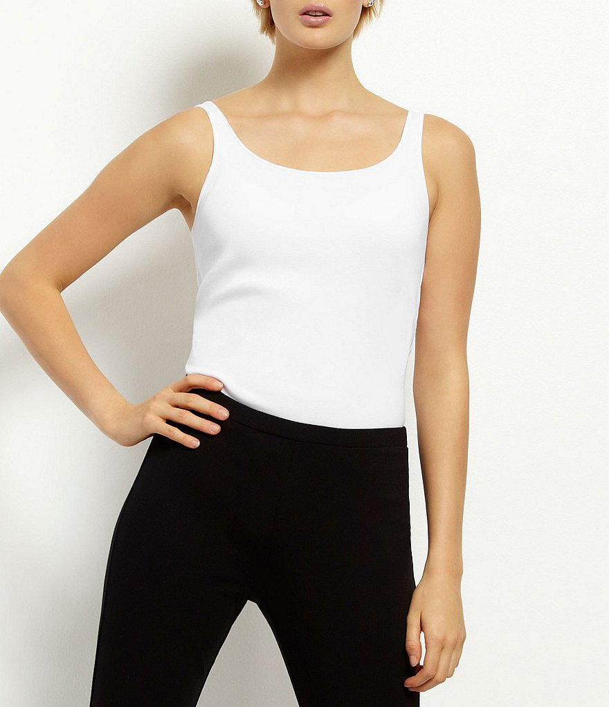 Eileen Fisher Petite Ribbed Organic Cotton Tank
