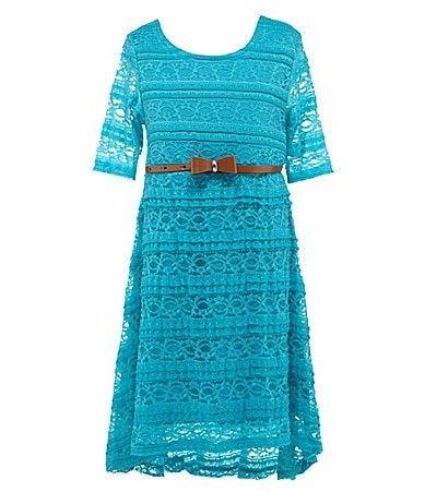 My Michelle 7-16 Hi-Low Lace Dress