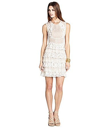 BCBGMAXAZRIA Kayla Lace Tiered Dress